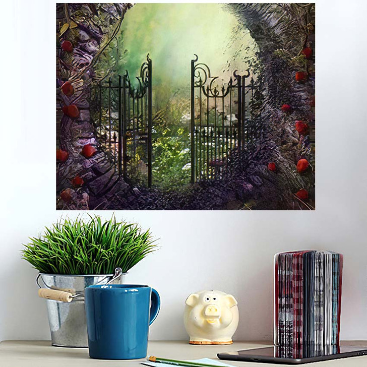3D Render Illustration Magical Old Gate - Fantasy Poster Art Wall Decor