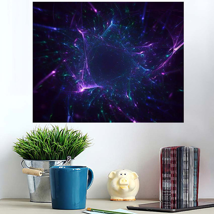 3D Rendering Abstract Fractal Light Background 4 - Fantasy Poster Art Wall Decor