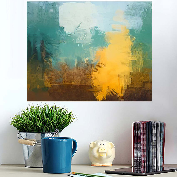 2D Illustration Artistic Background Image Abstract 2 - Abstract Art Poster Art Wall Decor