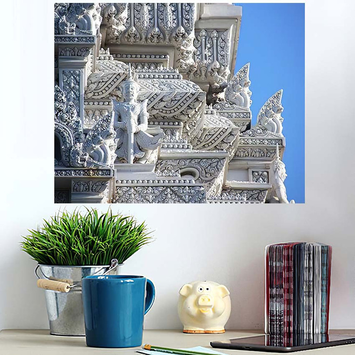 3 Royal Tombs Udong Stupa Preserves - Buddha Religion Poster Art Wall Decor