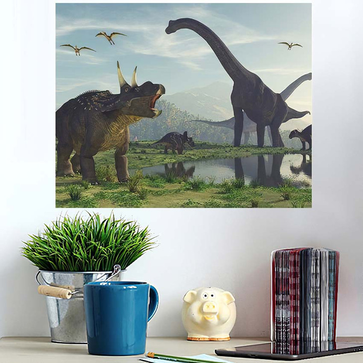 3D Render Dinosaur This - Dinosaur Animals Poster Art Wall Decor