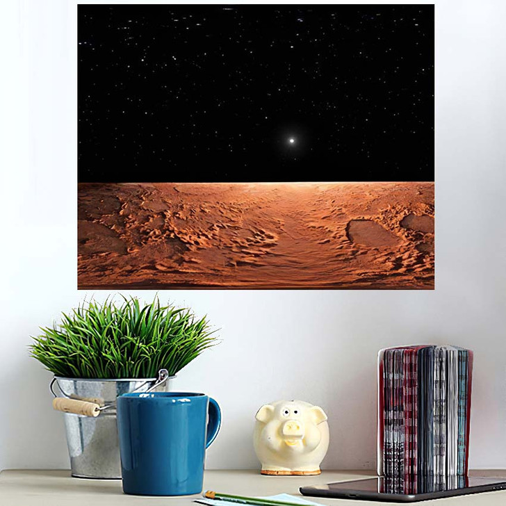 360 Equirectangular Projection Mars Hdri Environment - Sky and Space Poster Art Wall Decor