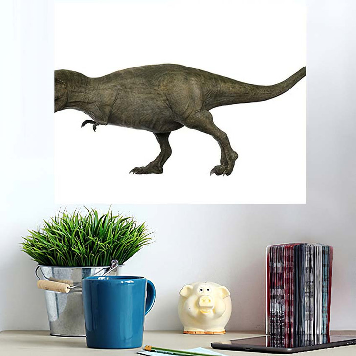 3D Rendered Trex Tyrannosaurus Rex 9 - Godzilla Animals Poster Art Wall Decor