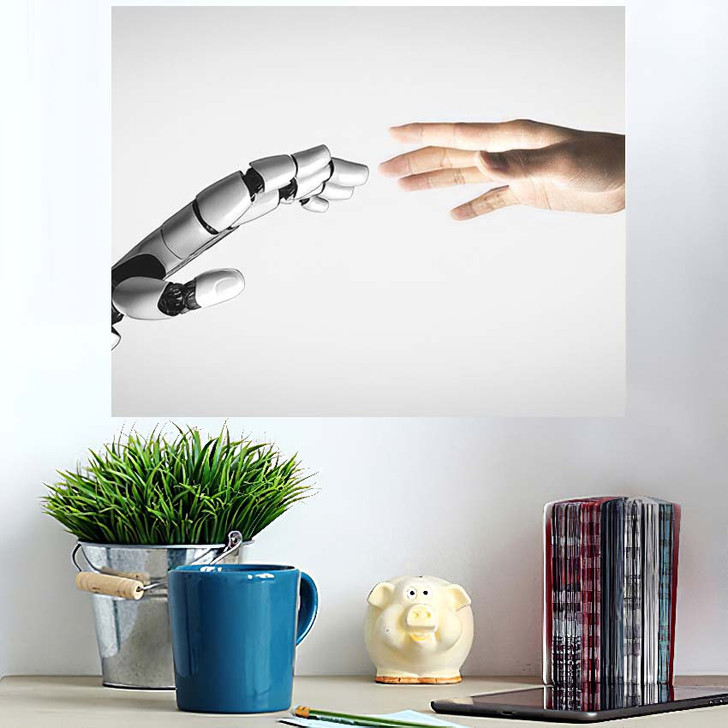 3D Rendering Artificial Intelligence Ai Research 1 - Creation of Adam Poster Art Wall Decor