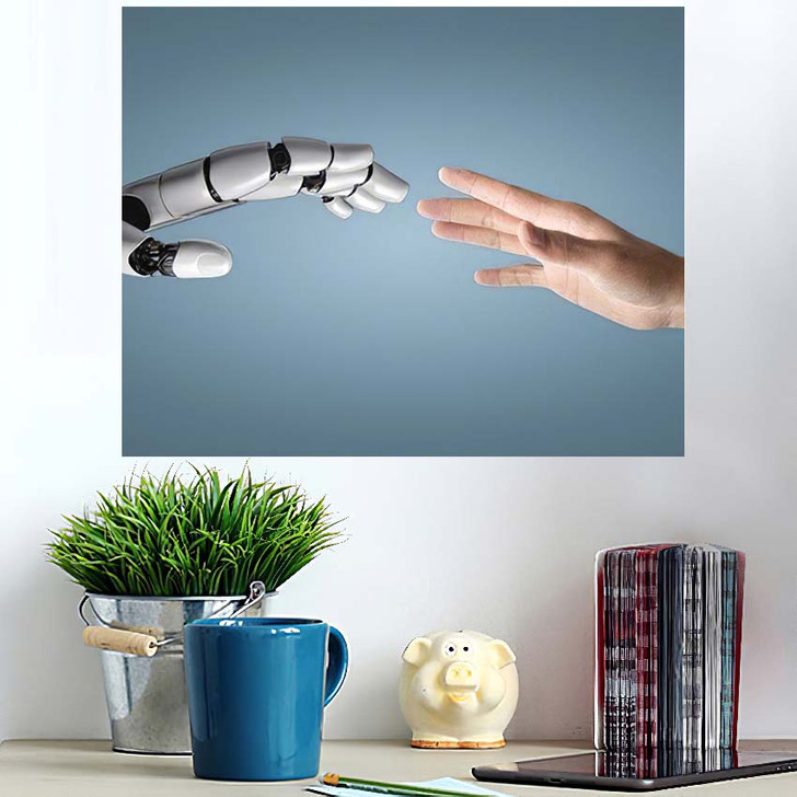 3D Rendering Artificial Intelligence Ai Research 10 - Creation of Adam Poster Art Wall Decor
