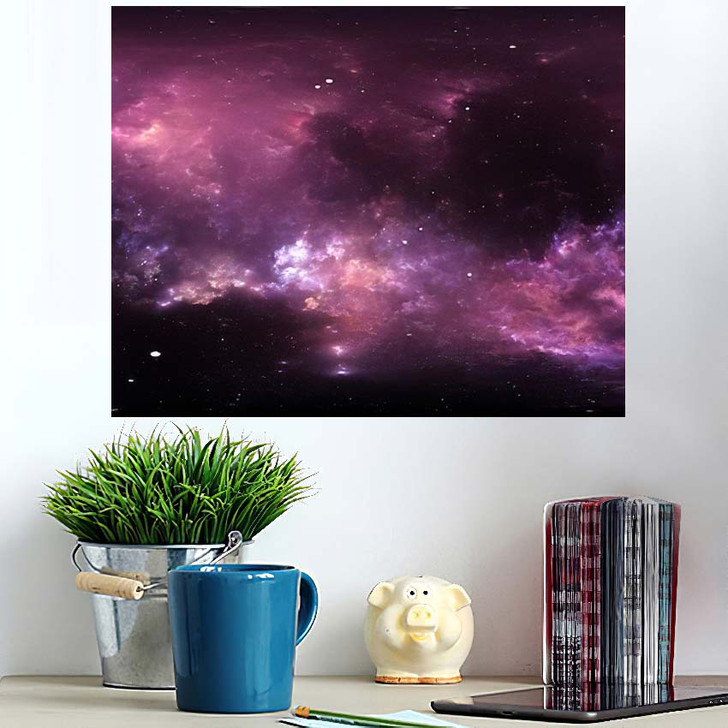 360 Degree Interstellar Cloud Dust Gas - Galaxy Sky and Space Poster Art Wall Decor