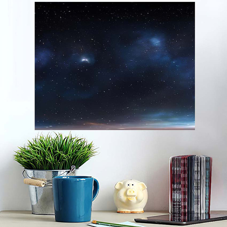 360 Degree Space Background Nebula Stars 1 - Galaxy Sky and Space Poster Art Wall Decor