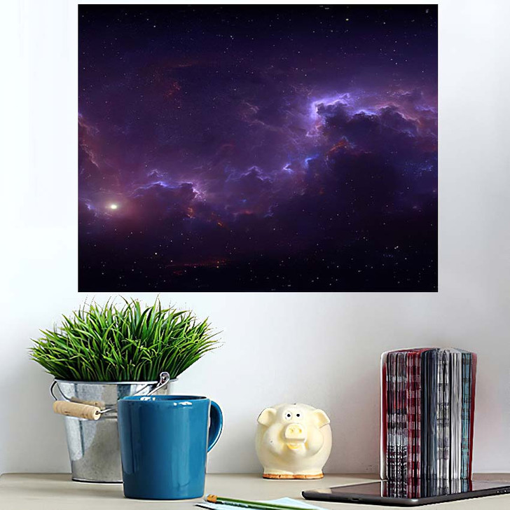 360 Degree Space Background Nebula Stars 2 - Galaxy Sky and Space Poster Art Wall Decor