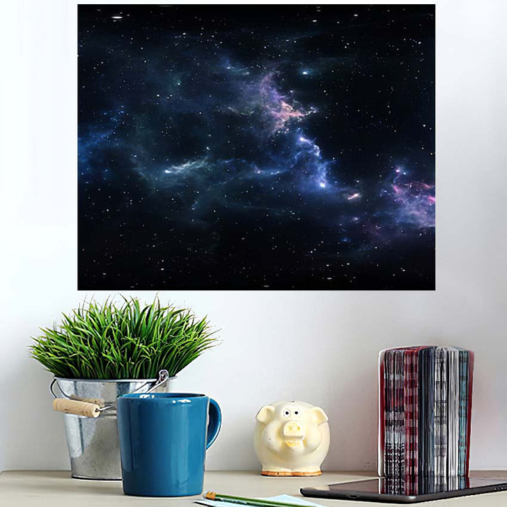 360 Degree Space Nebula Panorama Equirectangular 6 - Galaxy Sky and Space Poster Art Wall Decor