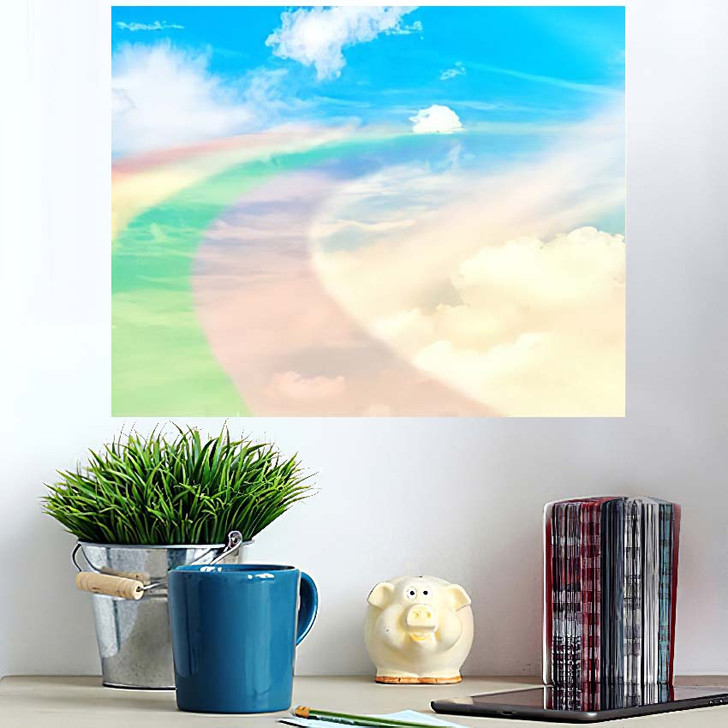 3D Illustration Fantastic Sky 1 - Galaxy Sky and Space Poster Art Wall Decor