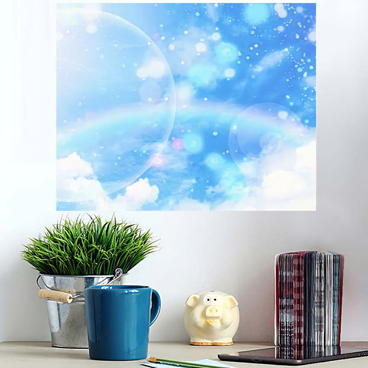 3D Illustration Fantastic Sky 2 - Galaxy Sky and Space Poster Art Wall Decor
