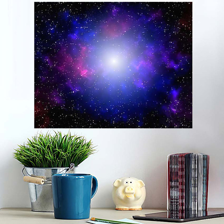 3D Illustration Galaxy Science Fiction Wallpaper - Galaxy Sky and Space Poster Art Wall Decor