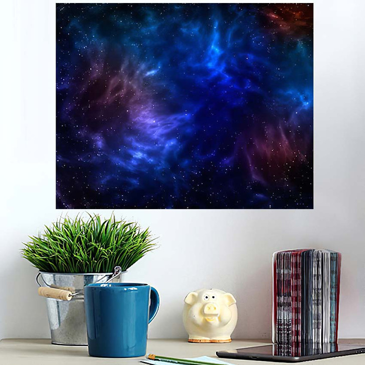 3D Illustration Planets Galaxy Science Fiction 7 - Galaxy Sky and Space Poster Art Wall Decor