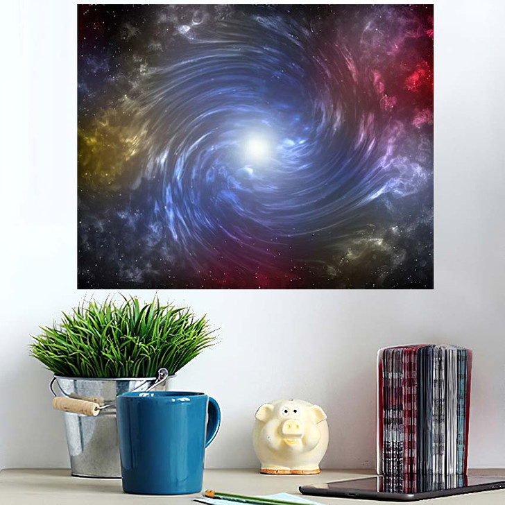 3D Illustration Planets Galaxy Science Fiction 8 - Galaxy Sky and Space Poster Art Wall Decor