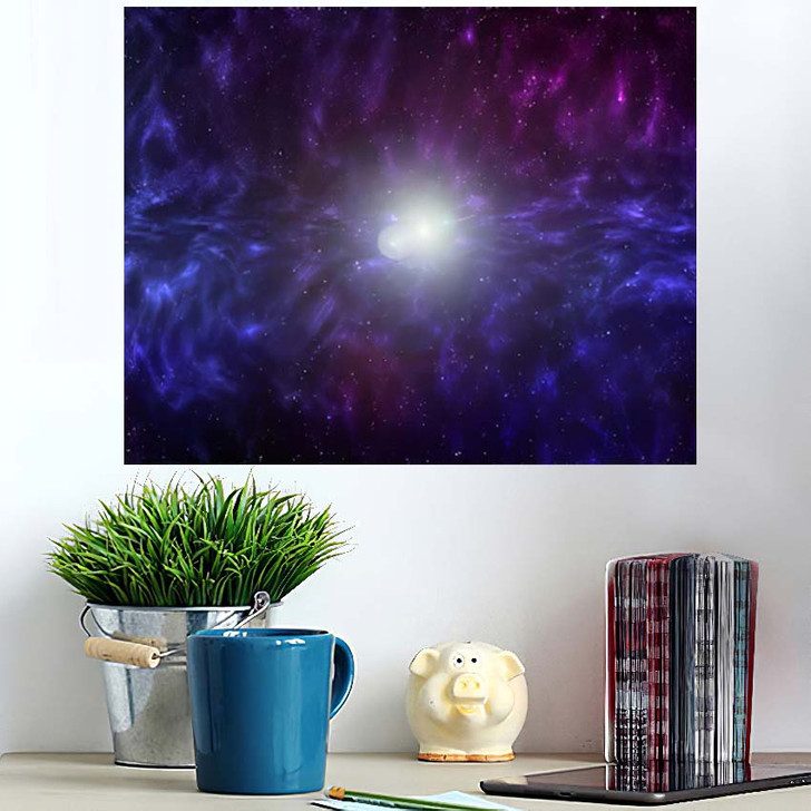 3D Illustration Planets Galaxy Science Fiction 10 - Galaxy Sky and Space Poster Art Wall Decor