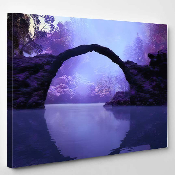 3D Illustration Landscape Where You Can - Fantasy Canvas Wall Art