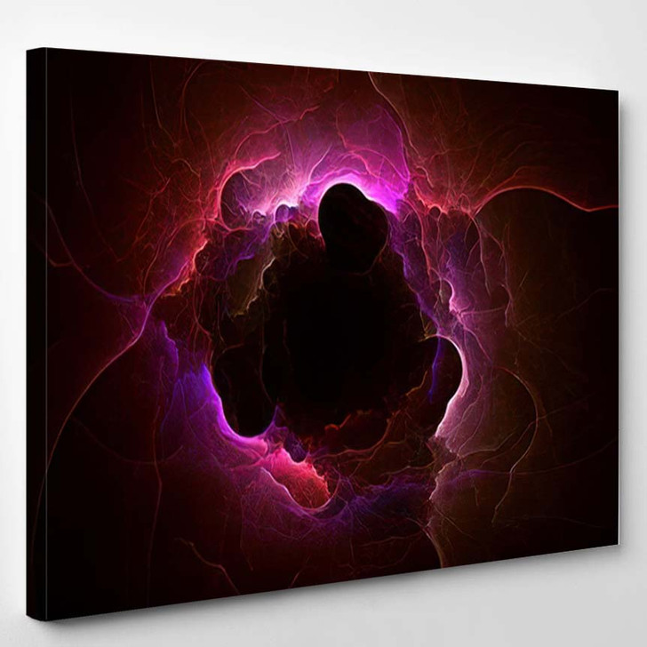 3D Rendering Abstract Fractal Light Background 2 1 - Fantasy Canvas Wall Art