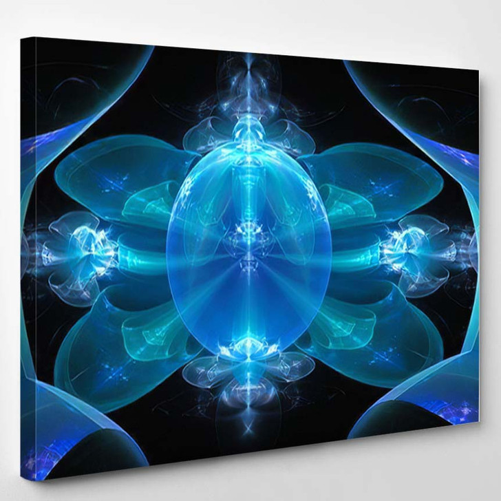 3D Surreal Illustration Sacred Geometry Mysterious - Psychedelic Canvas Wall Art