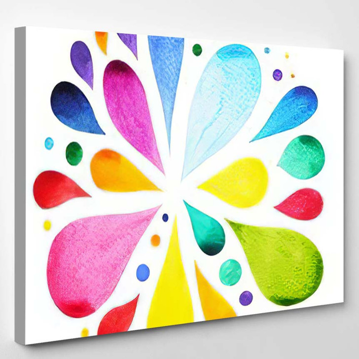 7 Color Chakra Mandala Symbol Concept - Mandala Canvas Wall Art