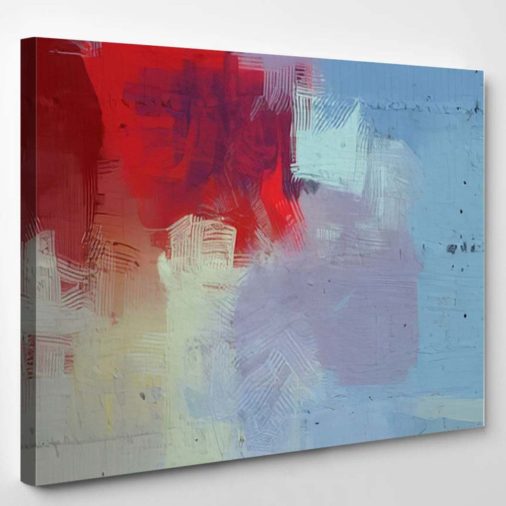 2D Illustration Artistic Background Image Abstract 1 - Abstract Art Canvas Wall Art