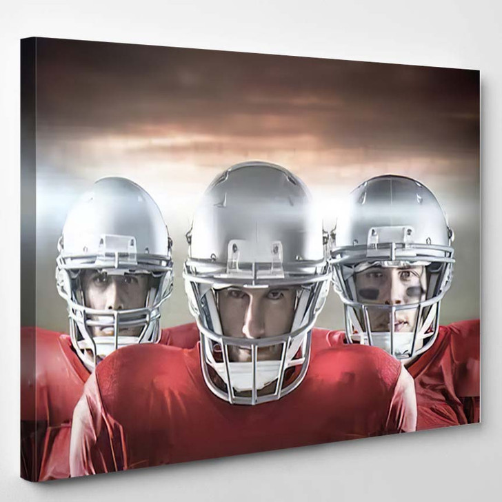 3D American Football Team Against Rugby - Football Canvas Wall Art