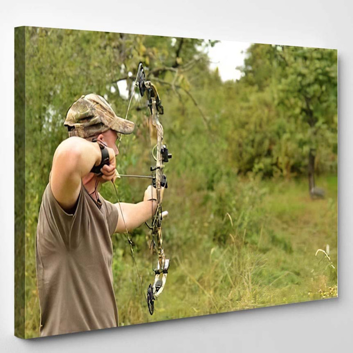 3D Target Model - Hunting and Fishing Canvas Wall Art