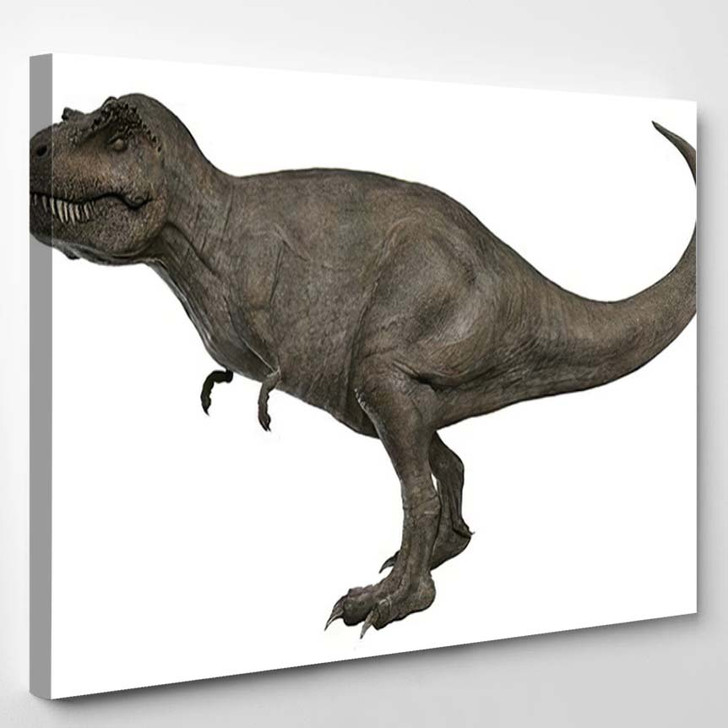 3D Rendered Trex Tyrannosaurus Rex - Godzilla Animals Canvas Wall Art