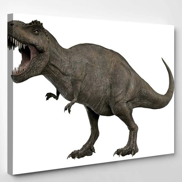 3D Rendered Trex Tyrannosaurus Rex 4 - Godzilla Animals Canvas Wall Art