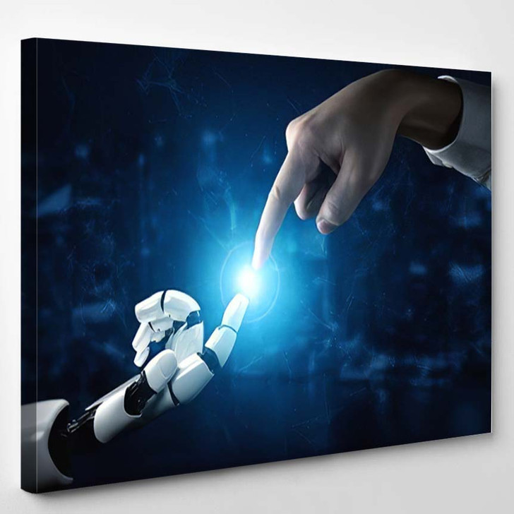 3D Rendering Artificial Intelligence Ai Research 5 - Creation of Adam Canvas Wall Art
