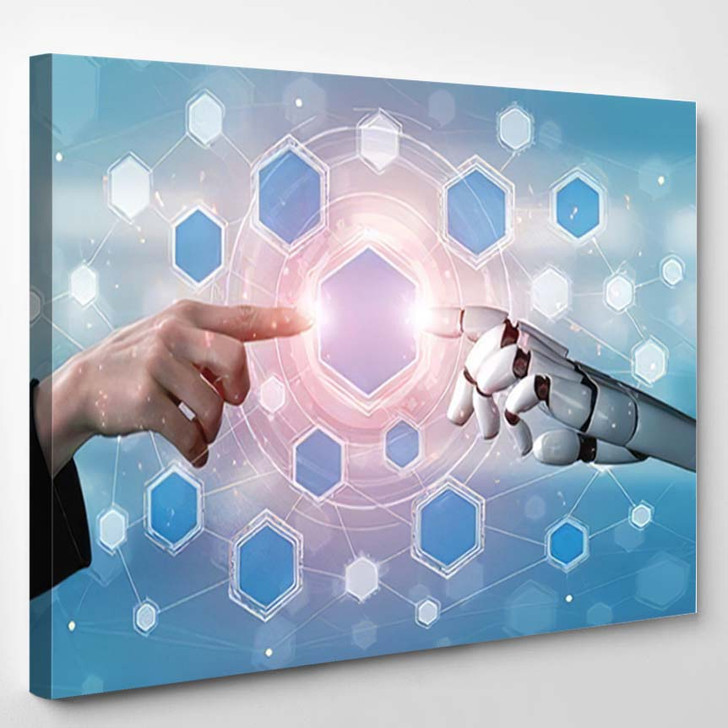 3D Rendering Artificial Intelligence Ai Research 7 - Creation of Adam Canvas Wall Art