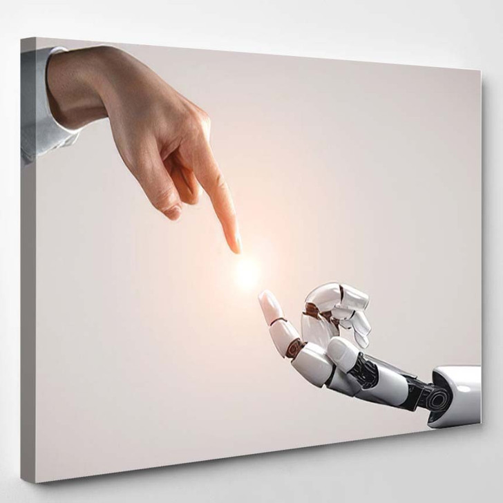 3D Rendering Artificial Intelligence Ai Research 12 - Creation of Adam Canvas Wall Art