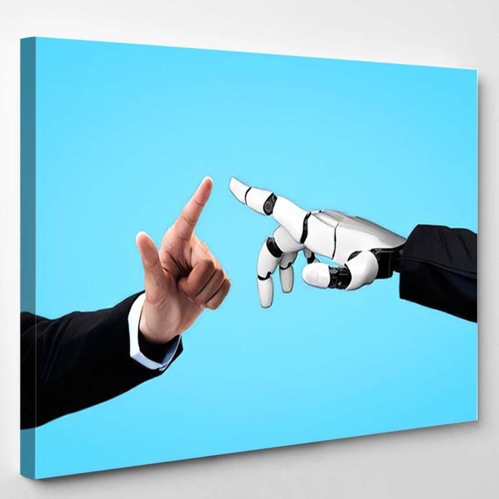 3D Rendering Artificial Intelligence Ai Research 23 - Creation of Adam Canvas Wall Art