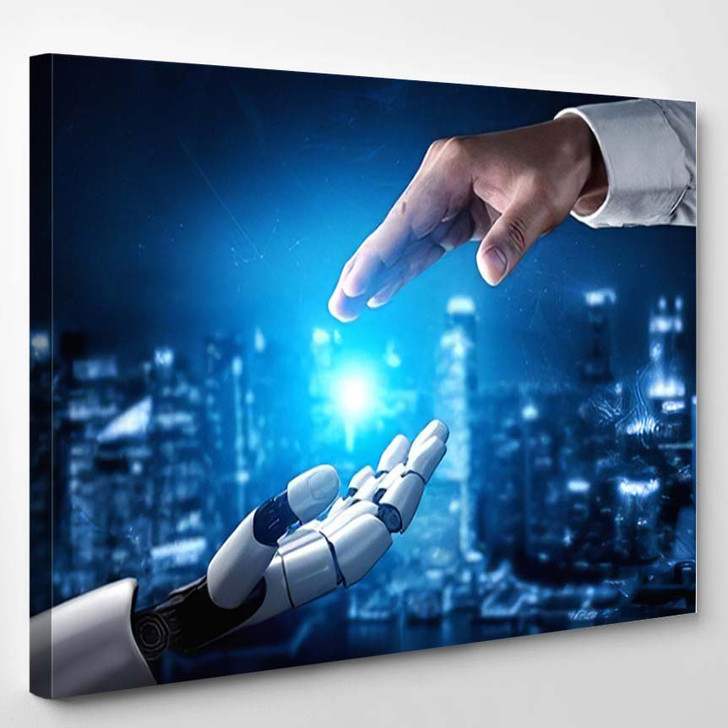 3D Rendering Artificial Intelligence Ai Research 31 - Creation of Adam Canvas Wall Art