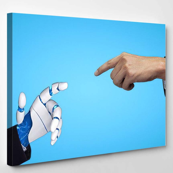 3D Rendering Artificial Intelligence Ai Research 34 - Creation of Adam Canvas Wall Art
