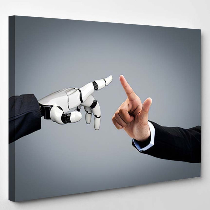 3D Rendering Artificial Intelligence Ai Research 36 - Creation of Adam Canvas Wall Art