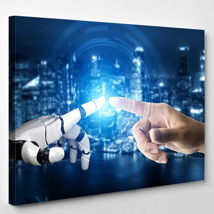 3D Rendering Futuristic Robot Technology Development 10 - Creation of Adam Canvas Wall Art