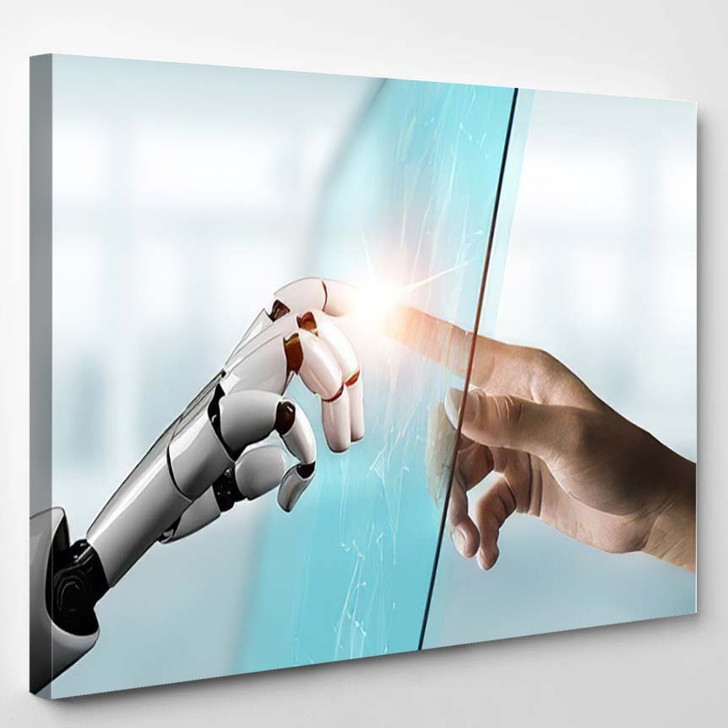 3D Rendering Futuristic Robot Technology Development 20 - Creation of Adam Canvas Wall Art