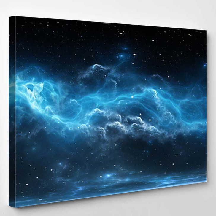 360 Degree Space Background Nebula Stars - Galaxy Sky and Space Canvas Wall Art