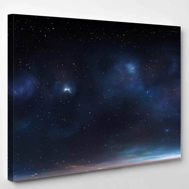 360 Degree Space Background Nebula Stars 1 - Galaxy Sky and Space Canvas Wall Art