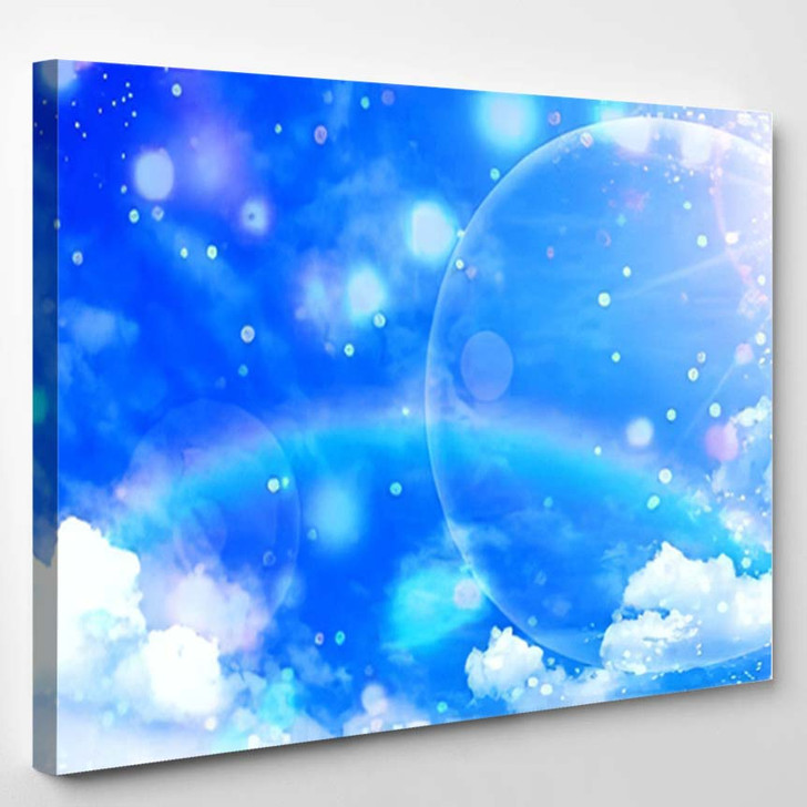 3D Illustration Fantastic Sky - Galaxy Sky and Space Canvas Wall Art
