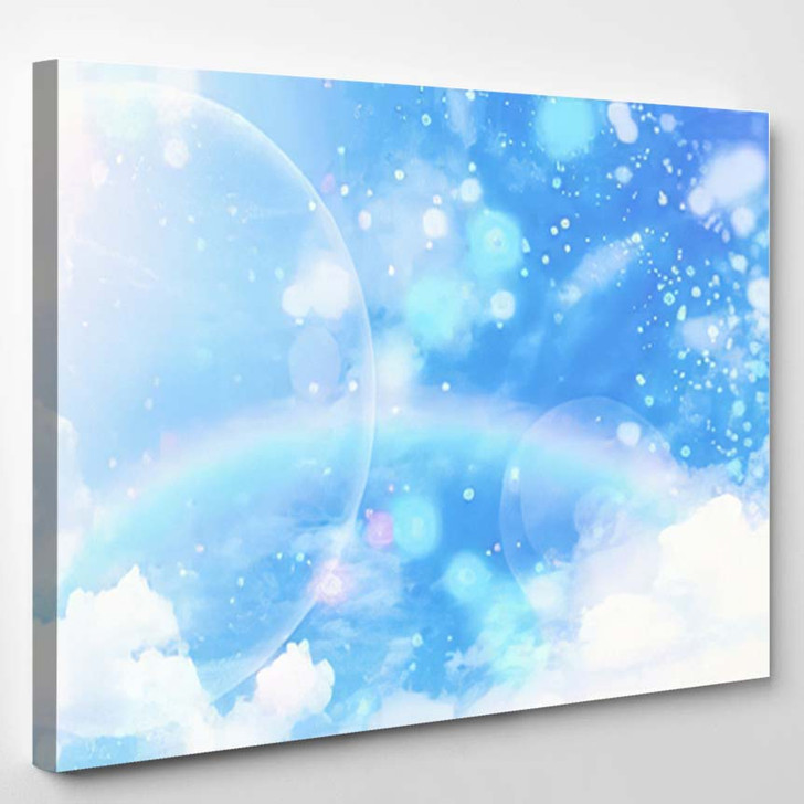 3D Illustration Fantastic Sky 2 - Galaxy Sky and Space Canvas Wall Art