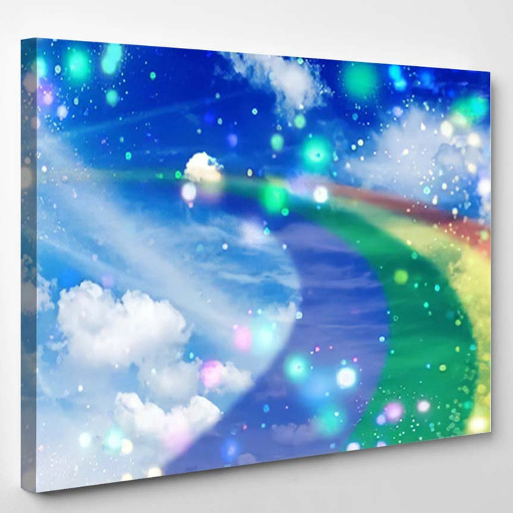 3D Illustration Fantastic Sky 3 - Galaxy Sky and Space Canvas Wall Art