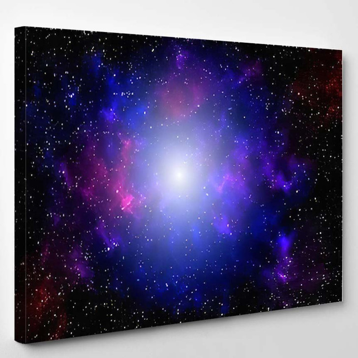 3D Illustration Galaxy Science Fiction Wallpaper - Galaxy Sky and Space Canvas Wall Art