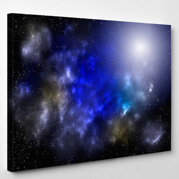 3D Illustration Planets Galaxy Science Fiction 1 - Galaxy Sky and Space Canvas Wall Art