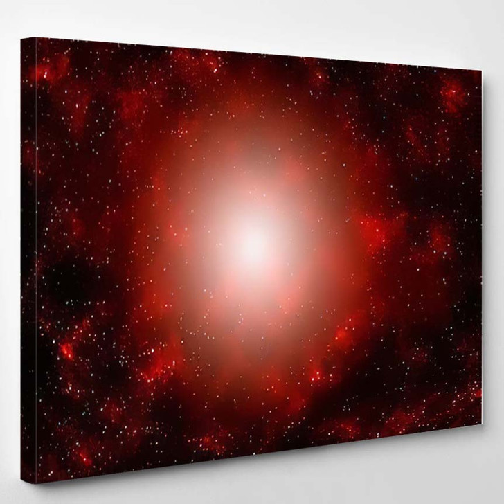 3D Illustration Planets Galaxy Science Fiction 2 - Galaxy Sky and Space Canvas Wall Art