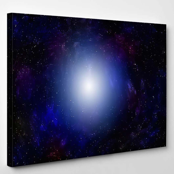 3D Illustration Planets Galaxy Science Fiction 3 - Galaxy Sky and Space Canvas Wall Art