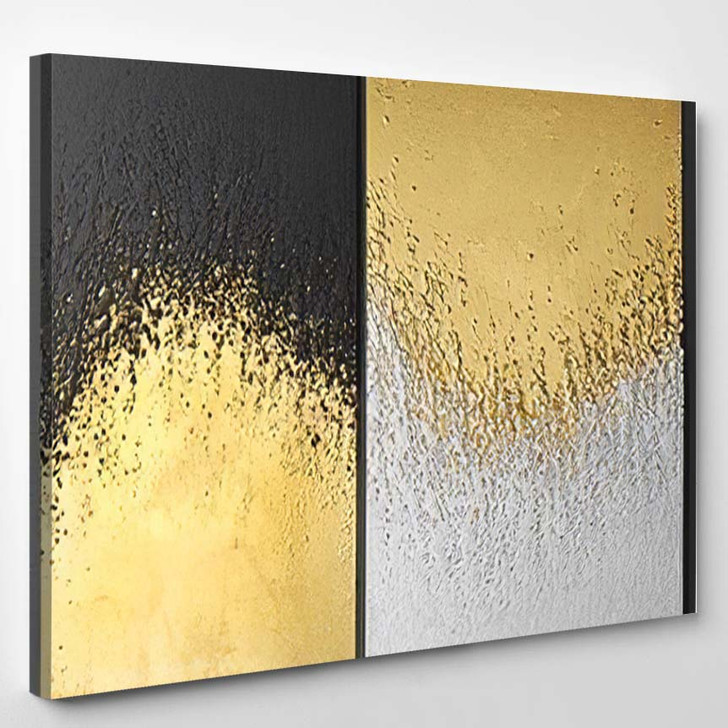 3D Wall Art Paintings Gold Leaf 1 - Paintings Canvas Wall Art