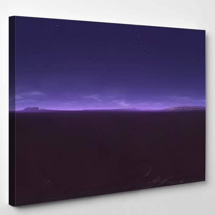 360 Degree Starry Night Sky Texture - Starry Night Sky and Space Canvas Wall Art