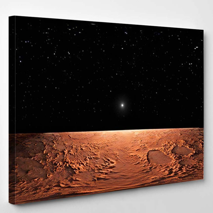360 Equirectangular Projection Mars Hdri Environment - Sky and Space Canvas Wall Art