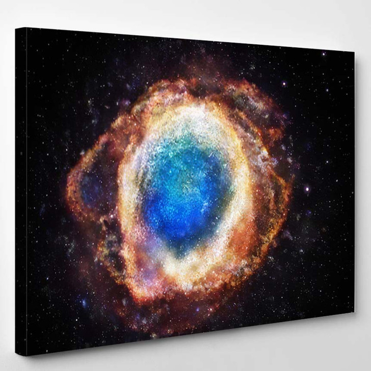 3D Rendering Galaxy Space Beauty Universe - Sky and Space Canvas Wall Art
